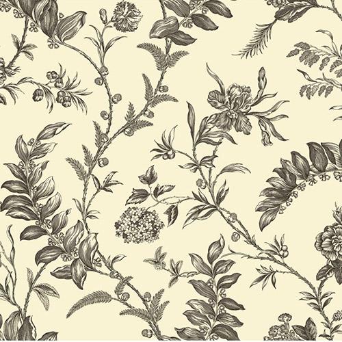 WM2518 Williamsburg Solomon's Seal Sure Strip Wallpaper Gray