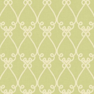 WM2536 Williamsburg Galt Embroidery Sure Strip Wallpaper Green