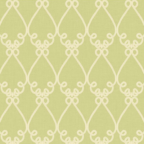 WM2536 Williamsburg Galt Embroidery Sure Strip Wallpaper Green