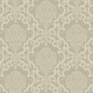 WM2566 Williamsburg Halifax Lace Sure Strip Wallpaper Gray