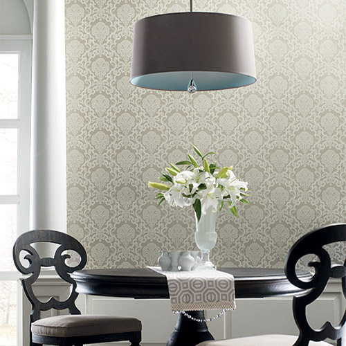 Williamsburg Halifax Lace Sure Strip Wallpaper Roomset