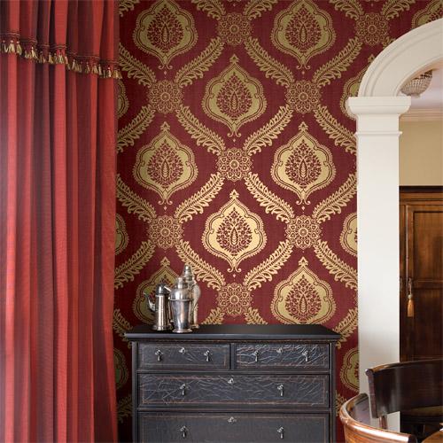 Alhambra Zoraya Damask Wallpaper Roomset