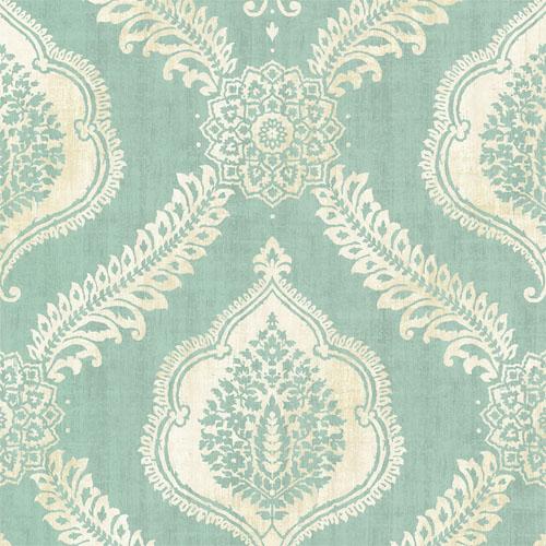 2618-21306 Alhambra Zoraya Damask Wallpaper Aqua