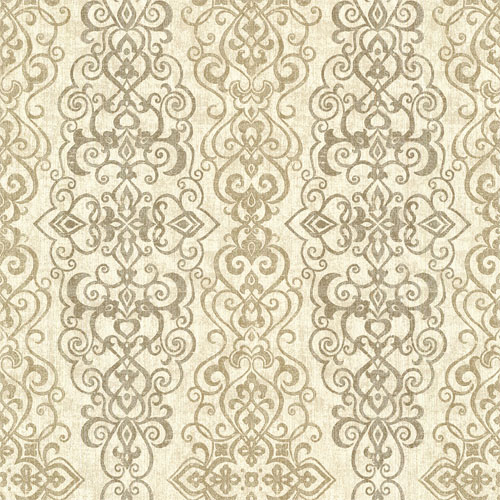 2618-21344 Alhambra Mexuar Filigree Stripe Wallpaper Taupe