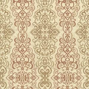 2618-21345 Alhambra Mexuar Filigree Stripe Wallpaper Copper