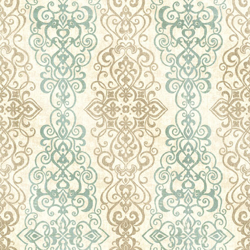 2618-21346 Alhambra Mexuar Filigree Stripe Wallpaper Aqua