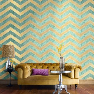 Seabrook Avant Garde Hubble Chevron Wallpaper Roomset