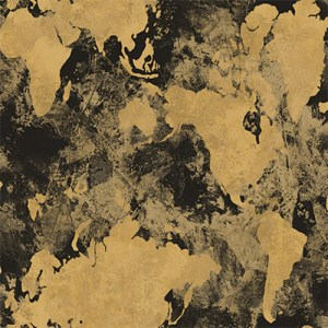 AV50900 Seabrook Avant Garde Galileo Continents Wallpaper Bronze