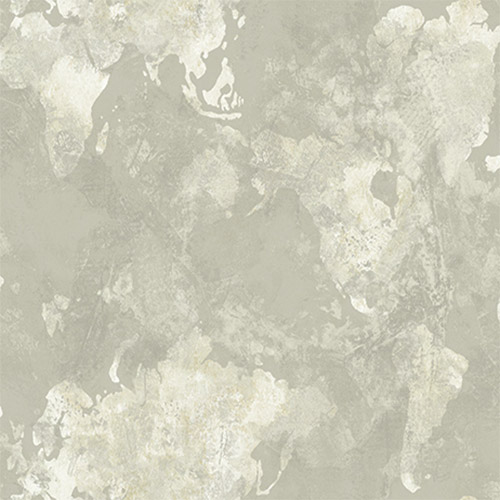 AV50908 Seabrook Avant Garde Galileo Continents Wallpaper Gray