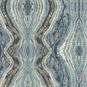 BH8398 Antonina Vella Kashmir Kaleidoscope Wallpaper Navy