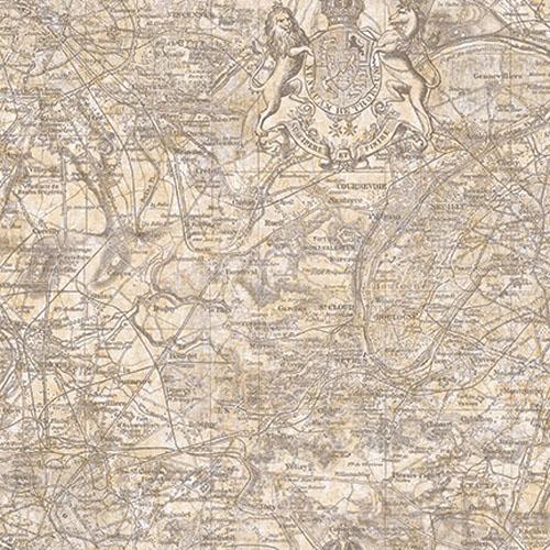 JP30500 Journeys Vespucci Map Wallpaper Taupe