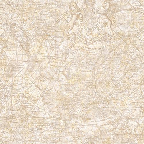 JP30506 Journeys Vespucci Map Wallpaper Beige
