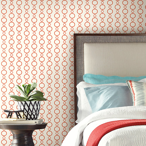 Waverly Stripes Chain Stripe Sure Strip Wallpaper Roomset
