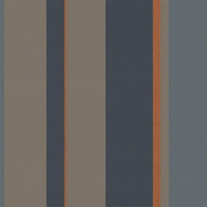 940184 Raffi My Home Vision Stripe Wallpaper Midnight Brown Rust