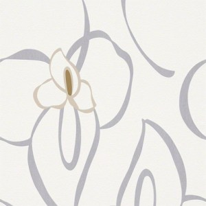 940242 Raffi My Home Lily Wallpaper Silver