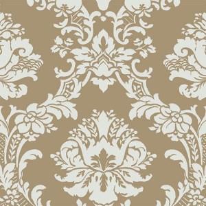CH28242 Norwall Classic Silks 2 Traditional Wallpaper Gold Aqua