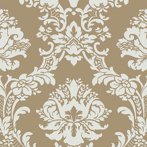 CH28242 Norwall Classic Silks 2 Traditional Wallpaper Gold Aqua