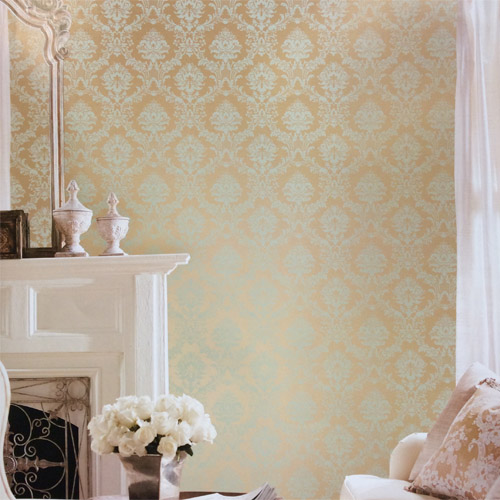 Norwall Classic Silks 2 Traditional Damask Wallpaper Roomset