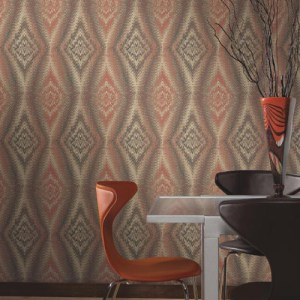 Carey Lind Menswear Chaucer Sure Strip Wallpaper Roomset