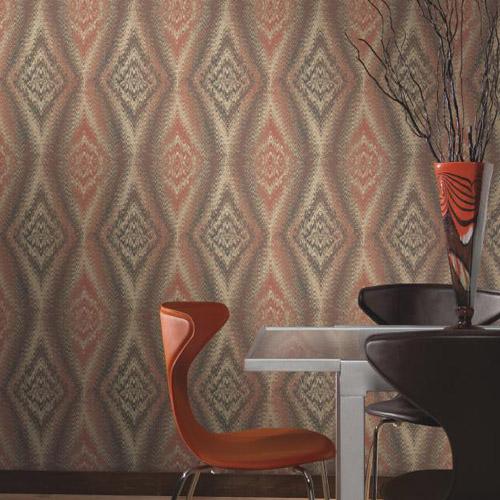 Carey Lind Menswear Chaucer Sure Strip Wallpaper Roomset
