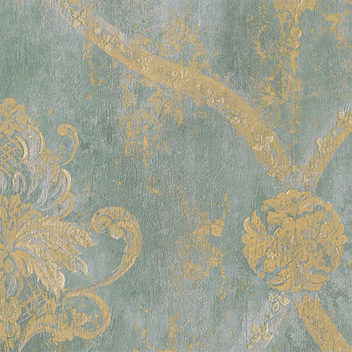 CS27331 Norwall Classic Silks 2 Fresco Damask Wallpaper Aqua
