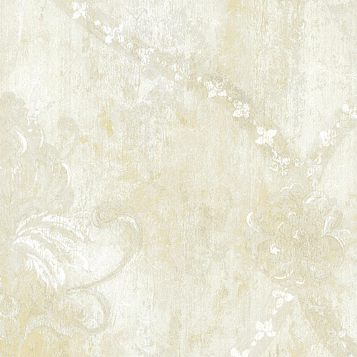CS27332 Norwall Classic Silks 2 Fresco Damask Wallpaper Beige