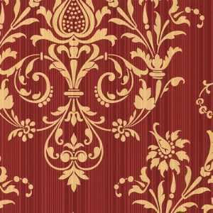 CS27362 Norwall Classic Silks 2 Stria Damask Wallpaper Garnet