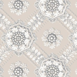 CS35629 Norwall Classic Silks 2 Plaster Relief Wallpaper Gray
