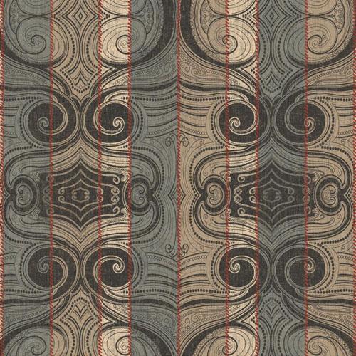 MW9162 Carey Lind Menswear Wave Length Sure Strip Wallpaper Cordovan