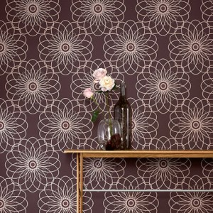 Raffi My Home Ray Graphic Floral Wallpaper Roomset