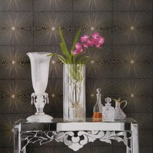 Seabrook Lux Decor Melrose Wallpaper Roomset