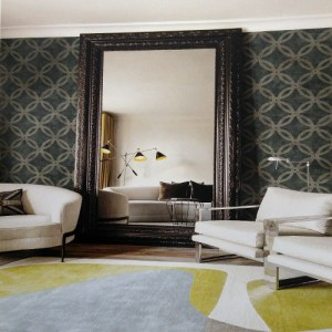 Seabrook Lux Decor Newbury Wallpaper Roomset