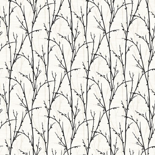 SH71500 New Hampton Deer Park Wallpaper Black and White