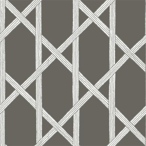 2671-22421 Brewster Kenneth James Azmaara Mandara Trellis Wallpaper Charcoal