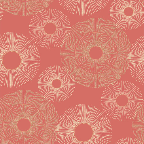 2671-22450 Brewster Kenneth James Azmaara Eternity Sparkle Wallpaper Coral