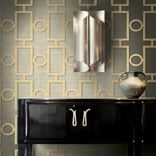 Seabrook Nouveau Luxe Adorn Geo Wallpaper Roomset