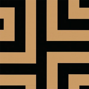 NE50000 Seabrook Nouveau Luxe Vogue Greek Key Wallpaper Black Gold