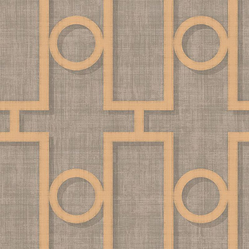 NE5060 Seabrook Nouveau Luxe Adorn Geo Wallpaper Pewter Gold