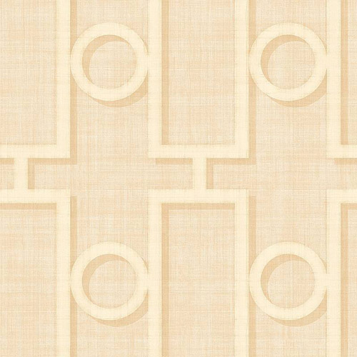 NE50602 Seabrook Nouveau Luxe Adorn Geo Wallpaper Beige Cream