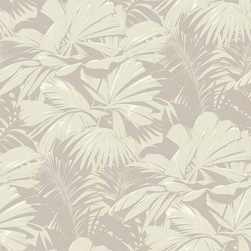 NE51304 Seabrook Nouveau Luxe Masquerade Tropical Leaf Wallpaper Sage Gray