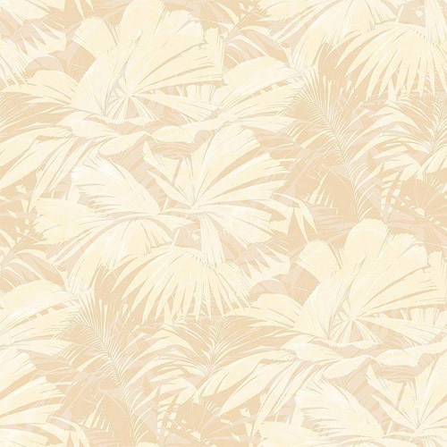 NE51305 Seabrook Nouveau Luxe Masquerade Tropical Leaf Wallpaper Cream