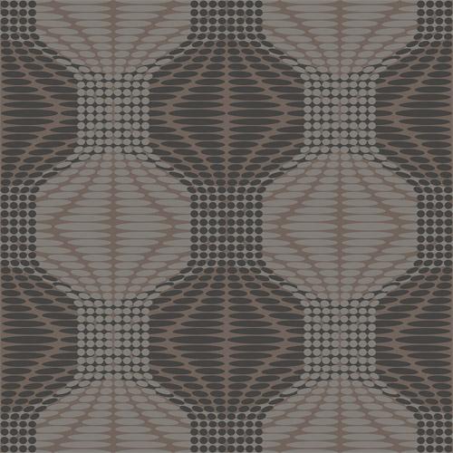 2697-22634 Brewster Wallcoverings Geometrie Optic Geometric Wallpaper Brown