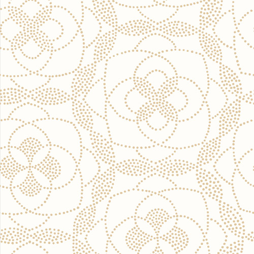 2697-22635 Brewster Wallcoverings Geometrie Cosmos Dot Wallpaper Gold
