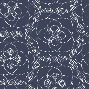 2697-22637 Brewster Wallcoverings Geometrie Cosmos Dot Wallpaper Blue