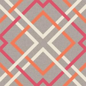2697-22650 Brewster Wallcoverings Geometrie Saltire Lattice Wallpaper Pink