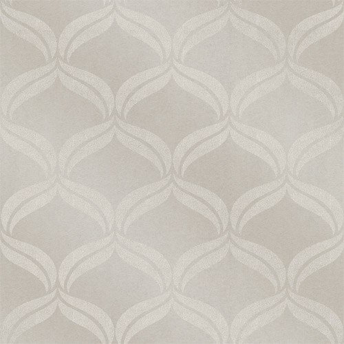 2697-87302 Brewster Wallcoverings Geometrie Petals Ogee Glass Bead Wallpaper Taupe