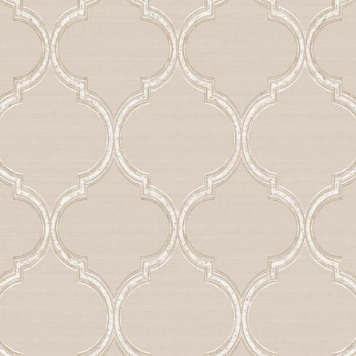 PV2927 York Ronald Redding Legacy Silk Trellis Wallpaper Beige
