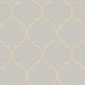 PV2928 York Wallcoverings Ronald Redding Legacy Silk Trellis Wallpaper Grey