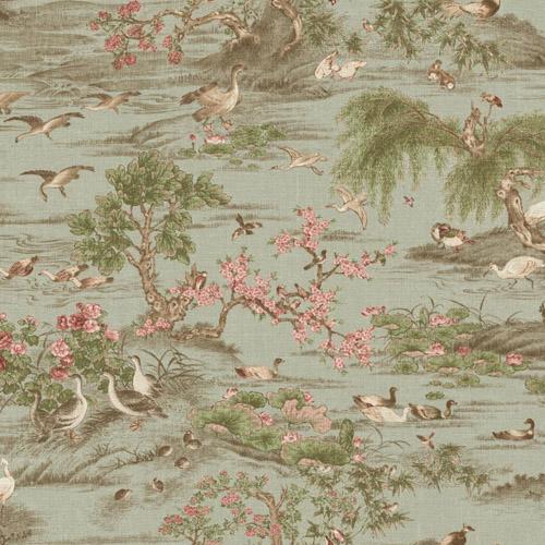 PV2966 York Ronald Redding Legacy Fragrant Garden Scenic Wallpaper Sage