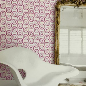 Seabrook Wallcoverings Lugano Faravel Geo Wallpaper Roomset